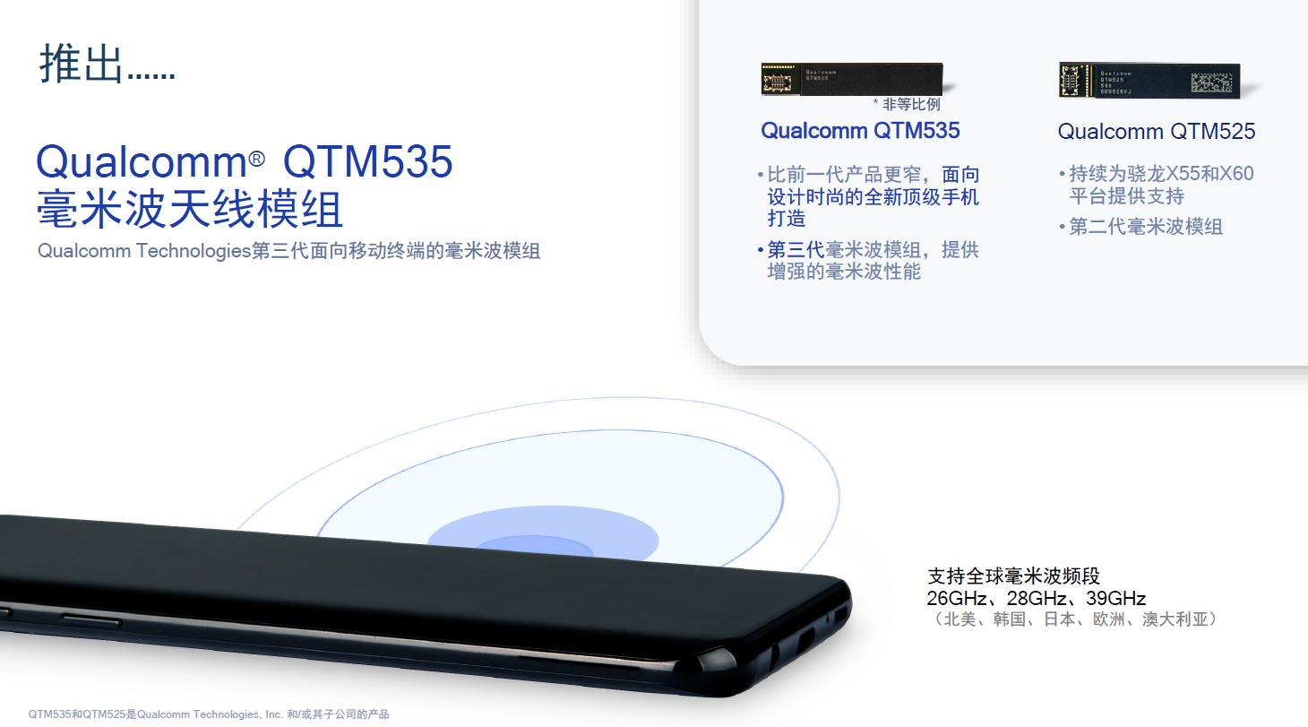 图5:高通QTM535毫米波天线模组。