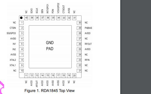 RDA1845全集成对讲机芯片的数据手册免费下载