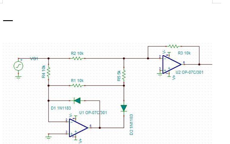 两种使用运放设计的精密整流电路的详细分析和计算