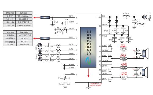 CS83785E雙聲道D類音頻功放芯片的數據手冊免費下載