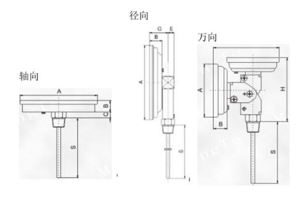 双金属温度计内部结构图_双金属温度计测量范围