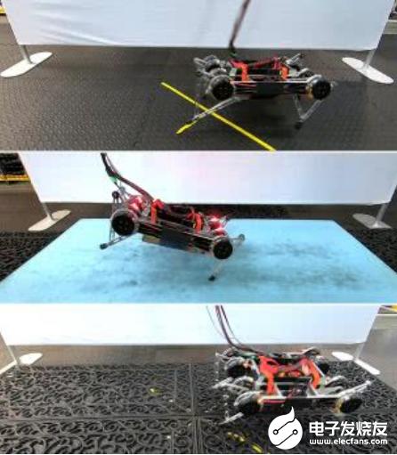 GOOGLE机器人不用干预 就可以自己学会走路