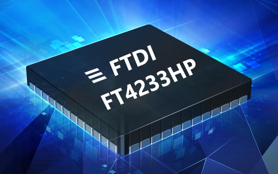 FTDI发布内置Type-C / PD控制器的双通道或四通道USB转UART / MPSSE桥接IC
