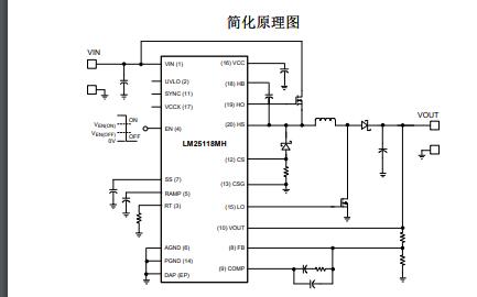 LM25118宽电压范围降压升压控制器的数据手册免费下载