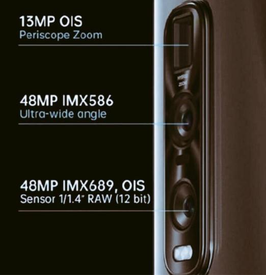 OPPO Find X2 Pro相機模組披露,后置豎排三攝方案設計