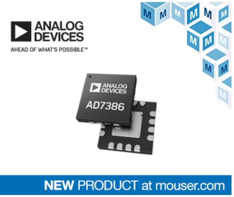 貿澤電子開售Analog AD7386逐次逼近寄存器模數轉換器