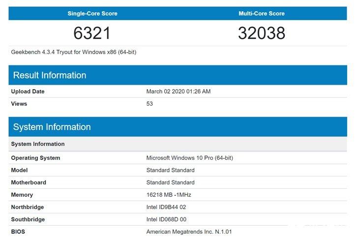 英特爾i9-10980HK最新(xin)跑分曝光,較上一代...