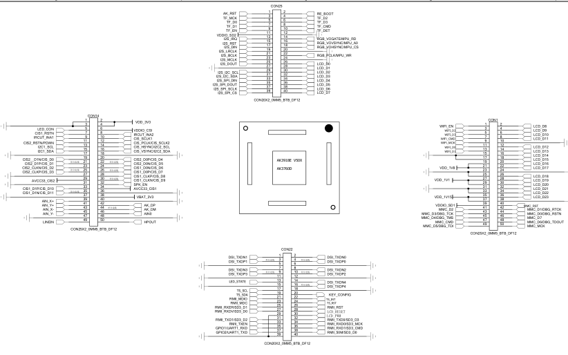 安凯AK3760D芯片的原理图合集免费下载
