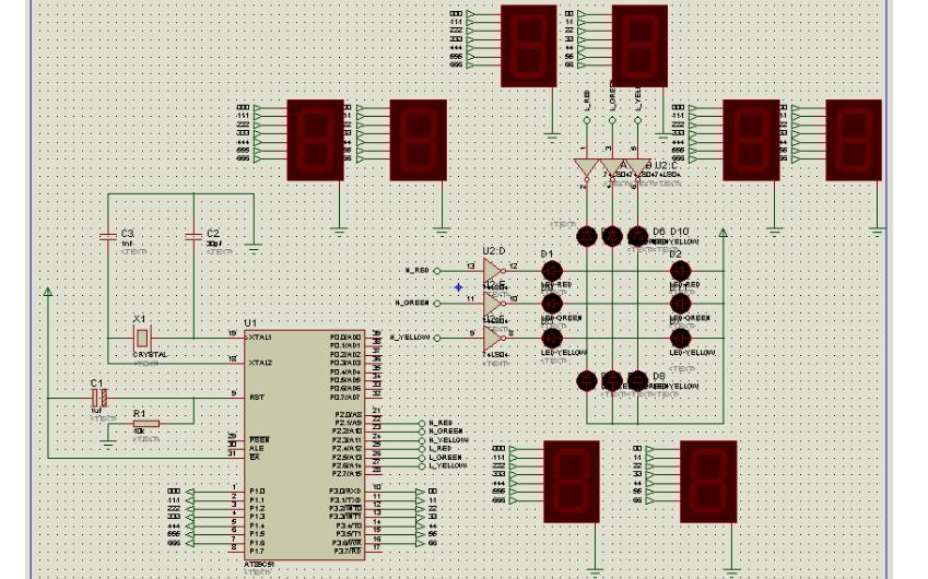 使用EDA软件实现交通灯设计的实验详细说明