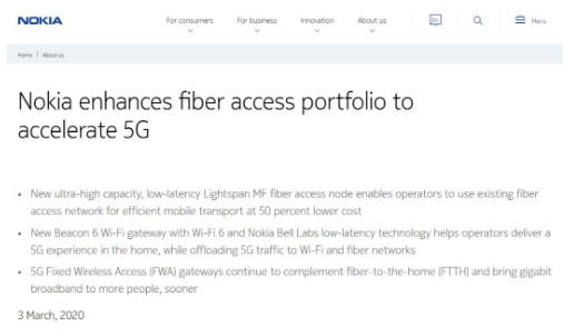 固定网络将成为5G网络成功部署的关键技术