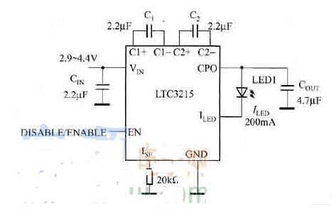 LTC32l5驱动LED的应用电路图