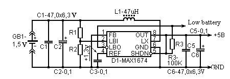 1.5v转5v的逆变器电路图
