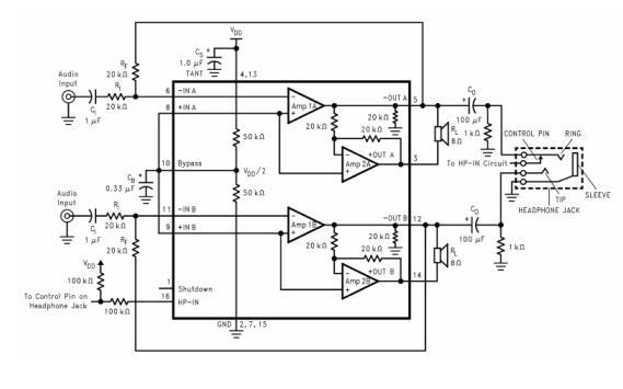 CSC4863双通道带立体声耳机模式的音频功率放大器的数据手册免费下载