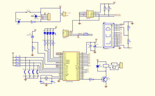 DHT11單片機溫度濕度傳感器原理圖和C語言免費下載