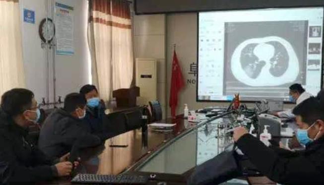 中国电信助力火神山医院完成了基于千兆光纤的远程会...