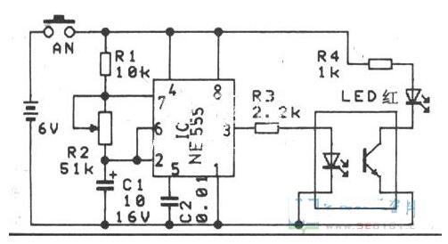 光电耦合器鉴别电路图
