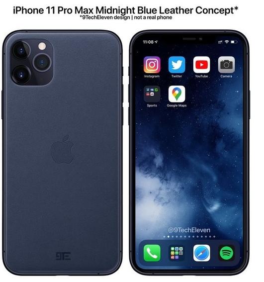 蘋果將在今年推出一款午夜藍配色的iPhone 11 Pro Max