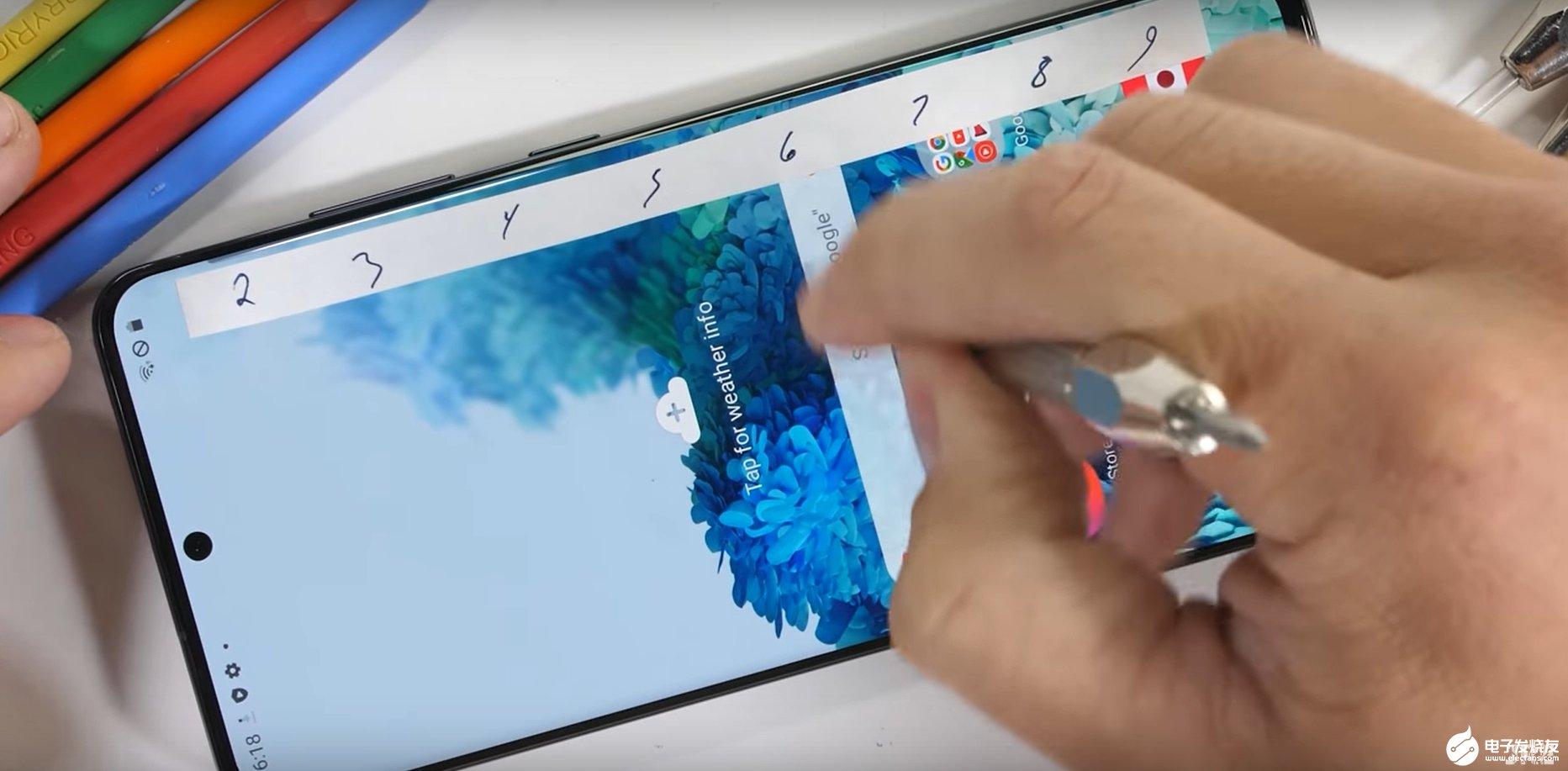 SAMSUNGGalaxy S20 Ultra:显示屏硬度大概在6级,整体坚固耐用