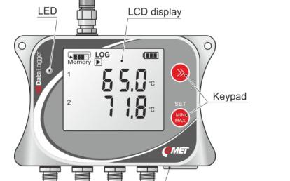 U0141M 四通道GSM远程温度记录仪,电池供...