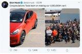 马斯克庆祝特斯拉第100万辆车下线 交付量逆势走...