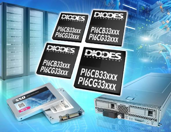 Diodes推出PCIe 5.0时钟发生器与缓冲器为服务器、IPC、网络、数据中心等应用提供前向兼容性