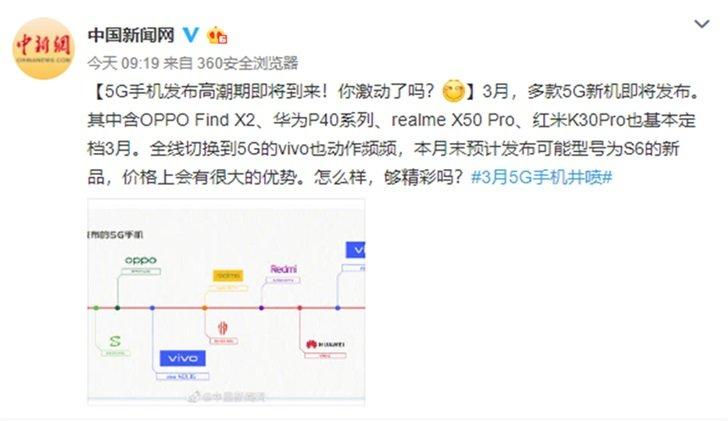 vivo S系列新品S6曝光,搭载5G性能处理器