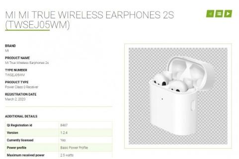 小米真无线耳机2S曝光,有望实现进行反向无线充电