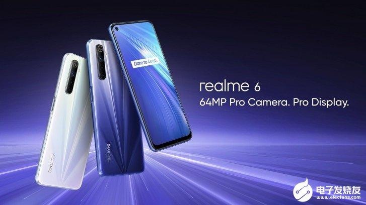 realme 6系列手機在海外市場推出,搭載的處...