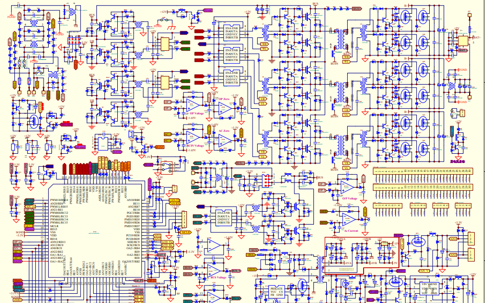 48V到5KW无桥LLC双向逆变器的电路原理图免费下载