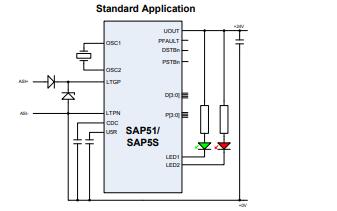 SAP51和SAP5S CMOS集成电路的数据手册免费下载