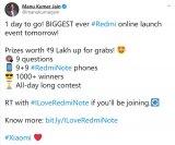 小米全球副总裁宣布正式发布Redmi Note ...