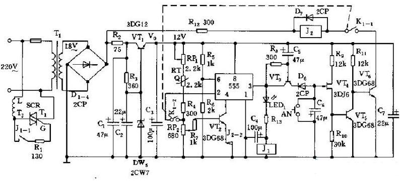 基于NE555的电饭煲自动调节功率的电路