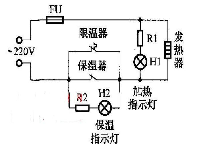 电饭煲电路原理图_电饭煲的火力控制电路