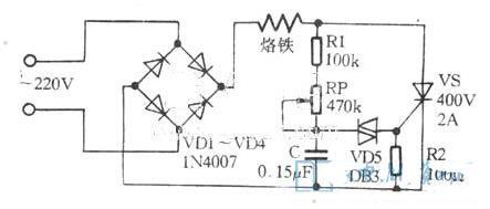 可控硅調溫電烙鐵電路圖