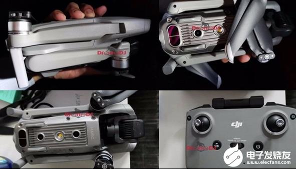 大疆新款Mavic无人机谍照 几乎延续了前一代Mavic 2的设计