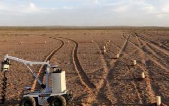 新型种树机器人研发成功,种植效率大大提高