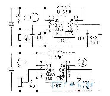 两列大功率LED恒流电路图分享