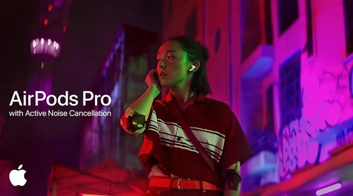 苹果AirPods Pro新广告完美展示降噪模式与透明模式的切换