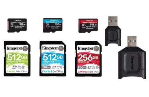 金士顿推出Canvas Plus系列存储卡,兼容UHS-I和传统SD接口标准