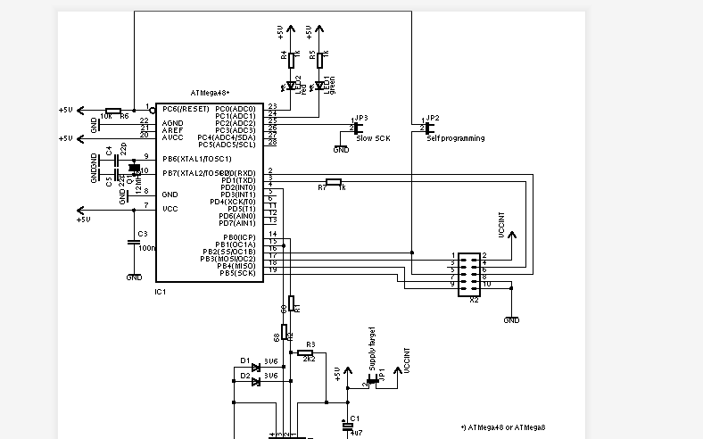 USBASP新版的电路图原理图免费下载