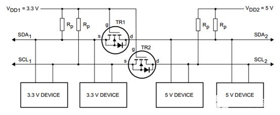 I2C双向电平转换电路
