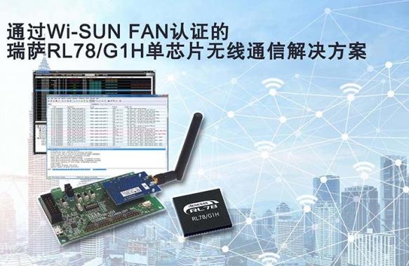 瑞萨新萄京的sub-GHz无线解决方案已成功通过W...