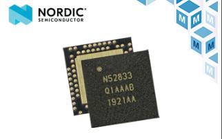 贸泽电子备货Nordic nRF52833多协议...
