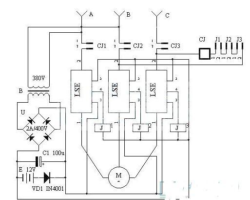 四款电机缺相保护电路的原理与电路图