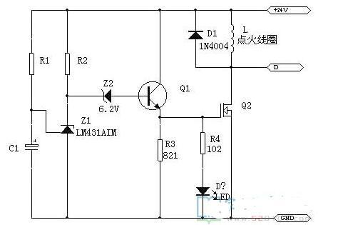 采用LM431做的延时开关电路