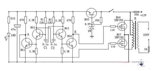 三款晶体管逆变器电路图