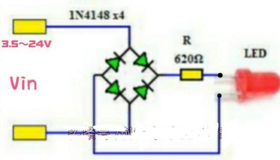 发光二极管可以做到正接和反接都点亮吗