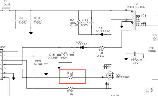 MOS管G极串联小电阻的作用