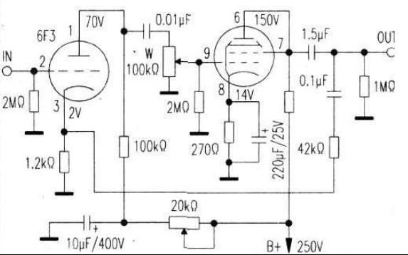 常用电压放大级即前级放大胆管代换说明详细说明