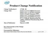 Intel十代酷睿处理器增加新产地